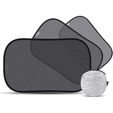 車用サンシェード 車窓日よけ 紫外線100%カット 2020最新版 赤ちゃん 断熱 目隠し簡単着脱 カー用品 収納袋 3枚セット