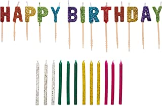 American Greetings Party Supplies, Glitter and Toothpick Birthday Candles (25-Count)