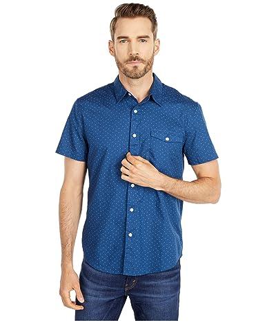 Lucky Brand Short Sleeve Monroe One-Pocket Shirt (Blue Print) Men