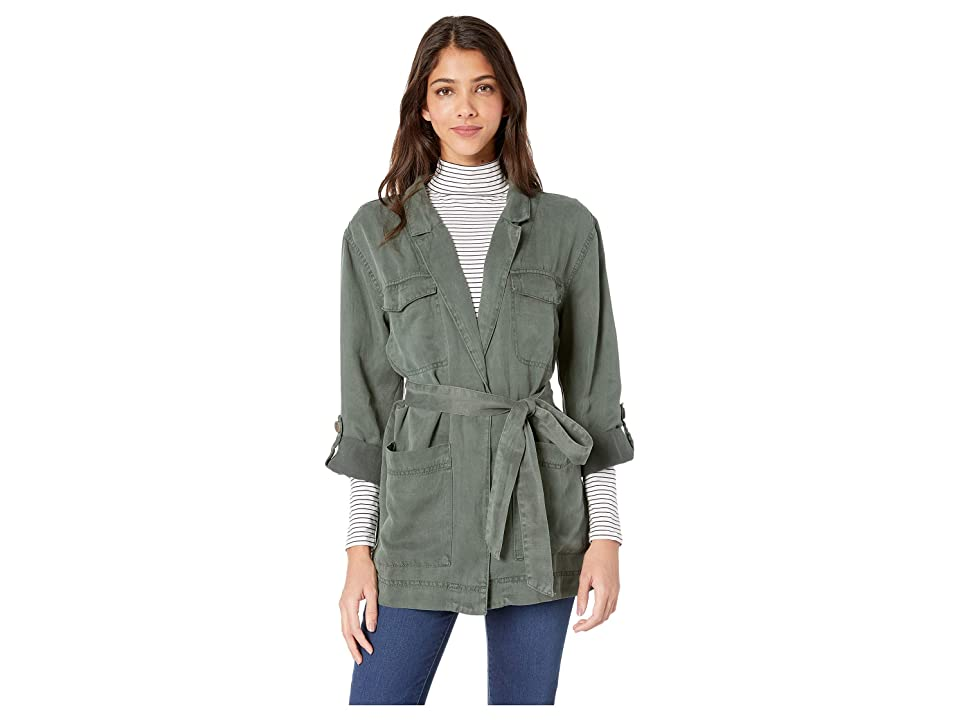 Sanctuary Safe Travels Belted Surplus Jacket (Washed Peace Green) Women