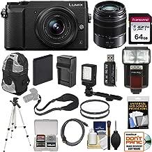 Panasonic Lumix DMC-GX85 4K Wi-Fi Digital Camera & 12-32mm & 45-150mm Lens (Black) with 64GB Card + Battery + Charger + Backpack + Tripod + Flash + Filters Kit