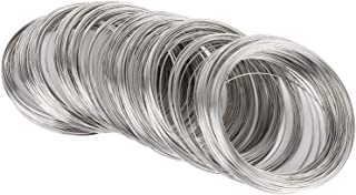 600 Jewelry Beading Wire Bracelet Making Supplies Memory Wire Cuff for Jewelry DIY Silver