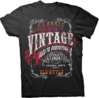 60th Birthday Gift Shirt - Vintage 1959 Aged to Perfection - Sturgis