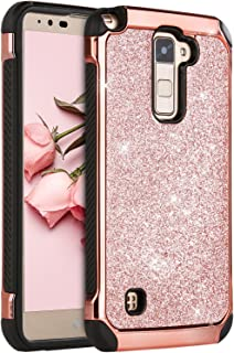 LG Stylo 2 Case, LG Stylus 2 Plus Case, LG Stylo 2 V Case, BENTOBEN Glitter Slim Hard Cover Hybrid Soft Bumper Shockproof Protective Phone Case for LG Stylo 2/ Stylus 2 Plus/K530/MS550/LS775 Rose Gold