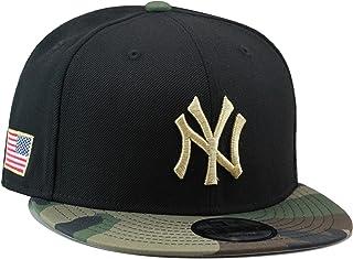 New Era 9fifty New York Yankees Snapback Hat Cap Black Camo Gold USA b3a8ba9defd2