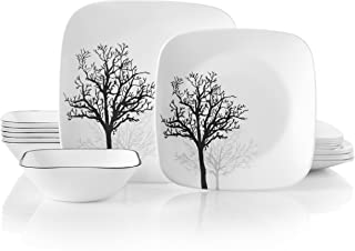 Corelle 18-Piece Service for 6, Chip Resistant, Timber Shadows Dinnerware Set