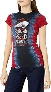 Liquid Blue Women's Led Zeppelin UK Tour 1971 Tie Dye Junior Graphic Tee