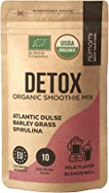 Detox Organic Smoothie Powder with Healthy Spirulina, Atlantic Dulse and Barley Grass Juice Powder, Premium Quality superf...