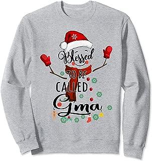 Grandma tee - Blessed to be called G'Ma Snowman Sweatshirt