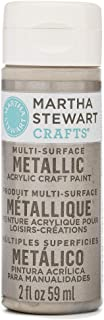 Martha Stewart Crafts Multi-Surface Metallic Acrylic Craft Paint in Assorted Colors (2-Ounce), 32994 Champagne