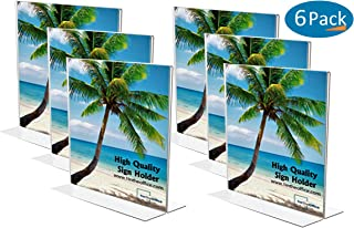 1InTheOffice Acrylic Vertical Stand-Up Sign Holder 8.5 x 11