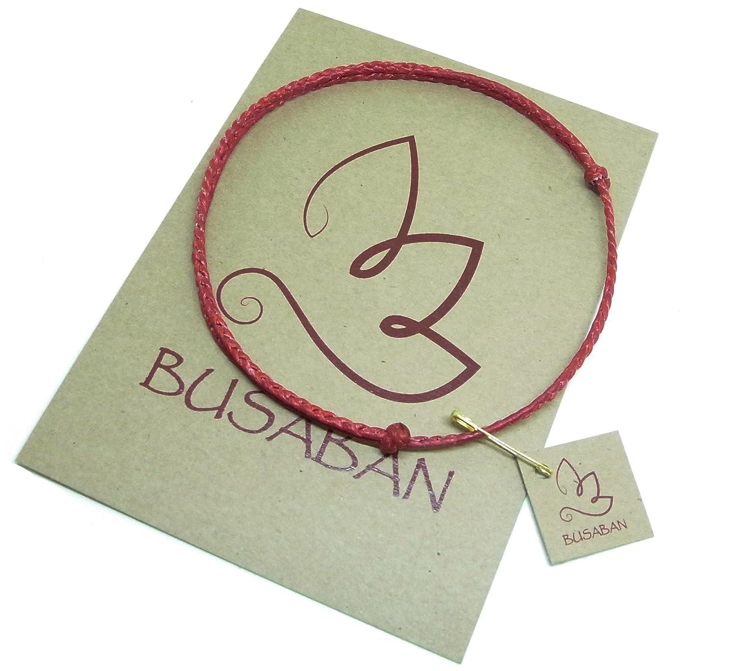 BUSABAN Asian Adjustable Handmade Braided Plaited Anklet Bracelet Wax Rope