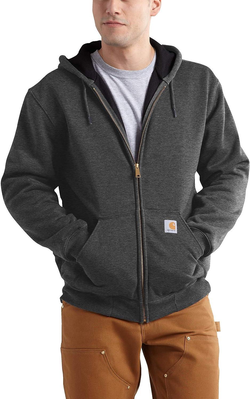 Carhartt mens Rutland Thermal Lined Zip Front Sweatshirt Hoodie at  Men's Clothing store