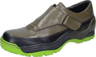 MOMA Loafer Flats Mens Leather Green