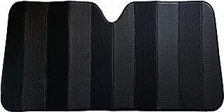 C.P.R. New Reversible Bubble Matte Black Front Windshield Sun Shade Accordion 67