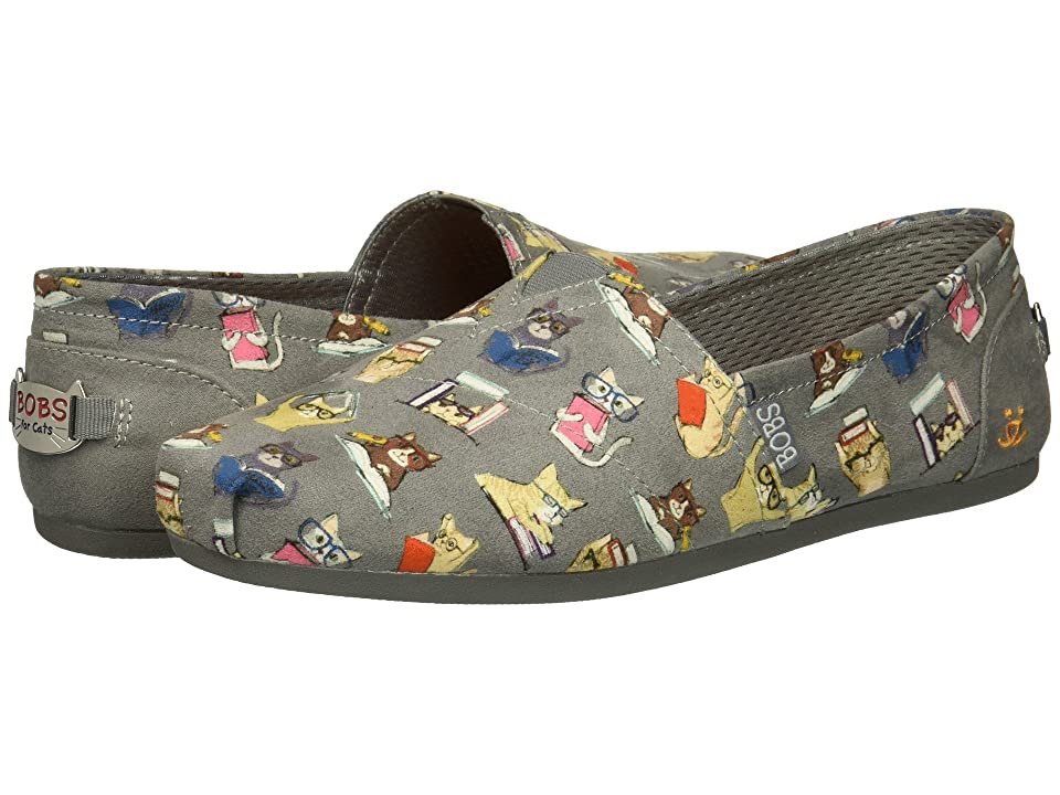 BOBS from SKECHERS BOBS Plush Studious Cats (Charcoal) Women