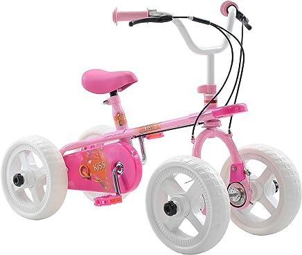 Quadrabyke Kiss Bicicleta para niños, Ruedas de 10 Pulgadas, diseño de 2, 3 o 4 Ruedas, Color Rosa