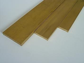 L/änge ca | Flachstange Ma/ße HxB: 6 x 12 mm B/&T Metall Messing Flach CuZn39Pb3 0,5 m MS58 massiv