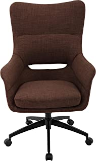 Hanover Carlton Wingback Chocolate Brown with Adjustable Gas Lift Seating, Caster Wheels, and Chrome Base, Office Chair