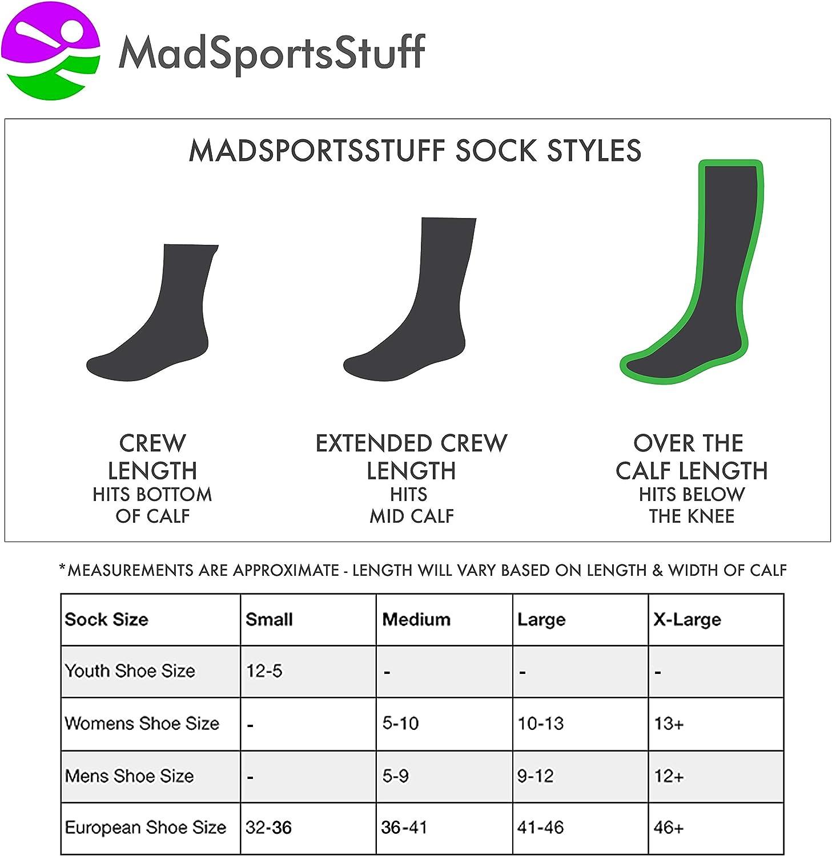 MadSportsStuff Softball Socks with Love Softball Hearts for Girls or Women - Athletic Over The Calf Socks