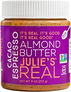Julie's Real Cacao Espresso Almond Butter - 9 Ounce Jar