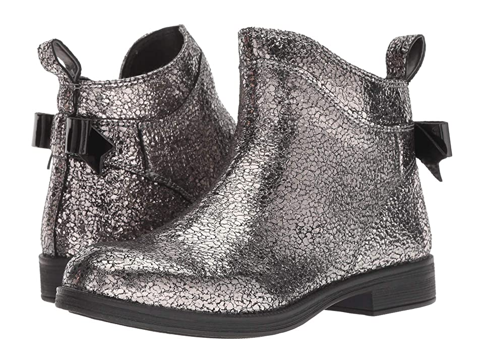 Geox Kids Agata 24 (Little Kid/Big Kid) (Dark Silver) Girl