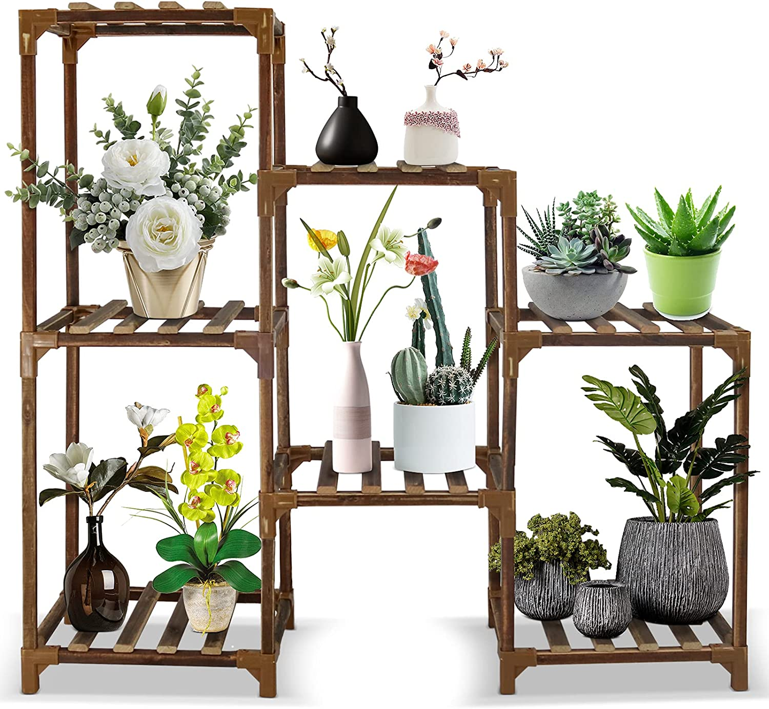 Tiered Plant Stands for Spring new work Multiple price Outdoor L Flymer Indoor Plants