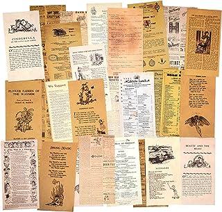 3 Paquets Ensemble de papier à motif vintage Papier de scrapbooking Papier décoratif Papier kraft avec impression recto po...