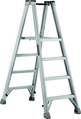 Louisville Ladder AMP1004 Type IA Aluminum Platform Ladder with 350 lb Load Capacity, 4'