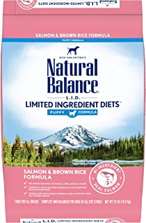 Natural Balance L.I.D. Limited Ingredient Diets Dry Dog Food, 24 Pounds, Salmon & Brown Rice Puppy Formula