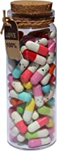 INFMETRY Capsule Letters Message in a Bottle Glass Favor Bottle (Mixed Color 90pcs)