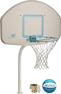 Dunnrite DeckShoot Pool Basketball Hoop with Stainless Steel Rim and Brass Anchor (DMB200BR Stainless)
