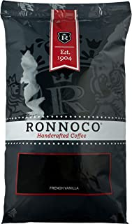 Ronnoco French Vanilla Coffee | 5 lb | Whole Bean | Bulk Coffee | Handcrafted Coffee Since 1904 | Bulk Size for Office, Ho...