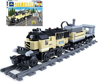inFUNity Motorized Cargo Toy Trains Blocks Compatible...