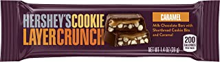 HERSHEY'S Cookie Layer Crunch Chocolate Candy Bar, Caramel (Pack of 20)
