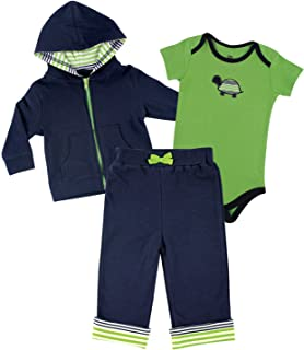 Yoga Sprout Unisex Baby Hoodie, Bodysuit and Pant