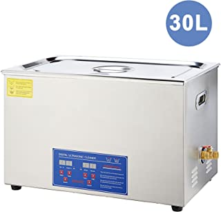 30L Ultrasonic Cleaner with Digital Timer & Heater, Professional Ultrasound Jewelry Cleaning Machine for Parts Denture Ring Watch