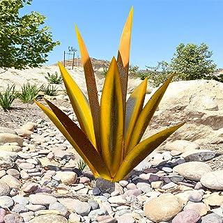 Plante d'agave en métal, pour la décoration de jardin, rouge, sculpture rustique de Tequila, adaptée pour l'intérieur, orn...
