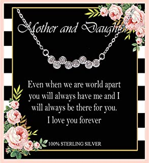 Mother and Daughter Necklace, Sterling Silver Necklace, Mom Necklaces for women, Mom and Daughter Necklace, Mother Daughter Jewelry, Mother Daughter Necklace, Mother's Day Gift, Birthday Gifts