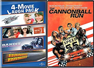 Go Bandit Collection Burt Reynolds Smokey & The Bandit part: 1 & 2 + Cannonball Run Movie Bandit Goes Country / Bandit Bandit Feature DVD 5 Comedy Funny Favorites Set Bundle