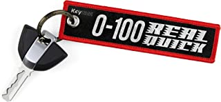 KEYTAILS Keychains, Premium Quality Key Tag for Motorcycle, Car, Scooter, ATV, UTV [0-100 Real Quick]