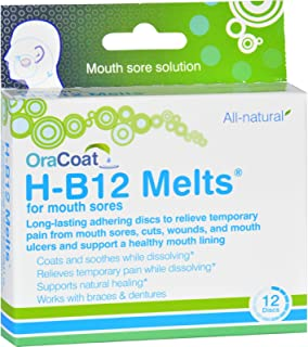 2 Pack of Oracoat H B12 Melts - Mouth Sores - 12 Count Gluten Free Wheat Free Oral Hygiene