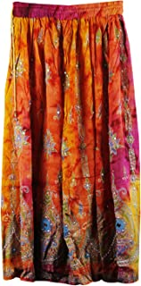 Indian Traditional Long Skirt,Belly Dance Skirt wd Sequins Work.