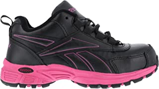 Reebok Work Ateron RB482 Womens Black/Pink EH Steel Toe Athletic Cross Trainer Shoes