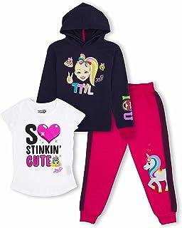 JoJo Siwa Unicorn Graphic Hoodie, Top and Legging, 3-Piece Athleisure Outfit Set - Girls 4-16