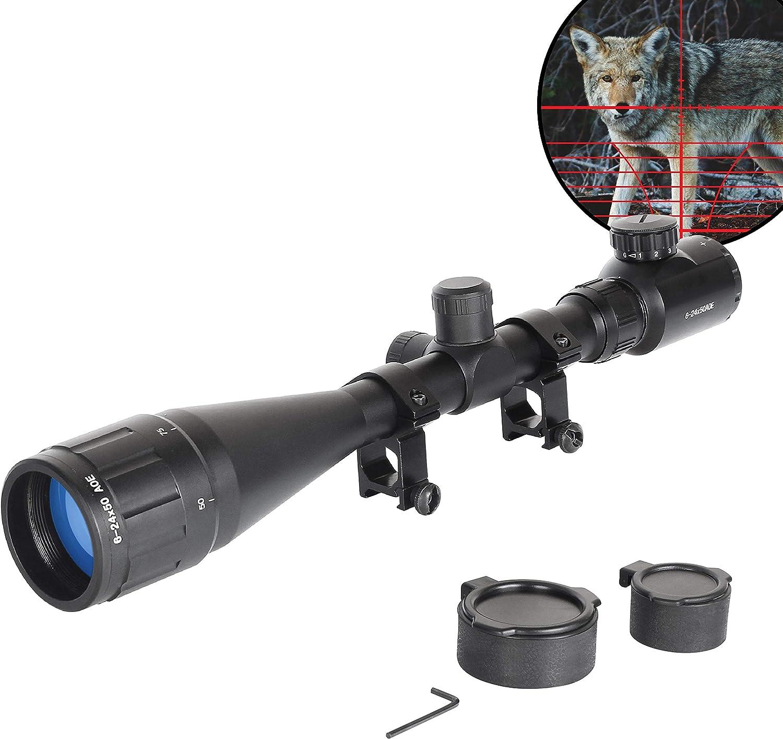 Mirino Ottico con obiettivo 50mm con Zoom 6-24X