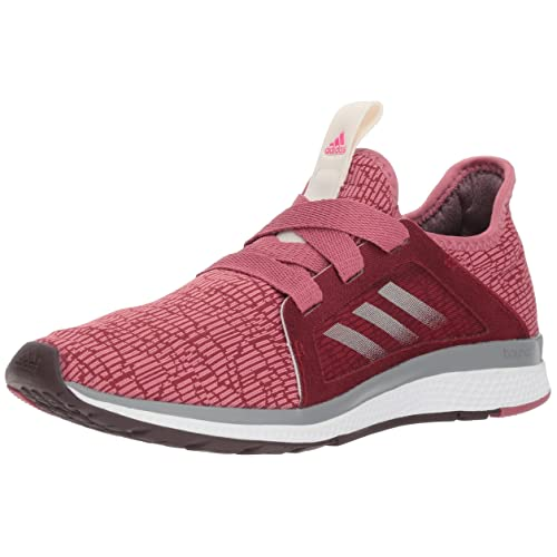 competitive price 13bee 74fb4 adidas Womens Edge Lux Running Shoe, Noble MaroonNight RedShock Pink,