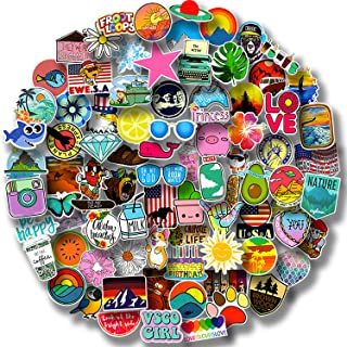 100/Pack Stickers Waterproof VSCO Stickers(100-500Pcs/Pack) - Aesthetic Stickers for Water Bottles,Laptop,Skateboards,Lugg...