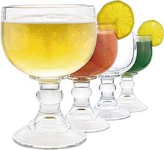 Schooner Beer Glass – 21.5 Oz Extra Large Goblet Crystal Style LEAD Free Shrimp..