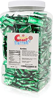 Andes Mints, Andes Crème de Menthe After-Dinner Chocolate Mints in Jar, 4 Lbs